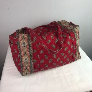 Vera Bradley | Red Quilted Duffle